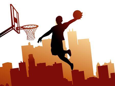 hip: Basketball player Illustration
