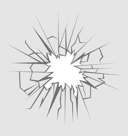 Verpletterd glas, illustratie
