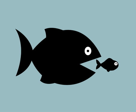 big fish: big fish eat little fish illustration