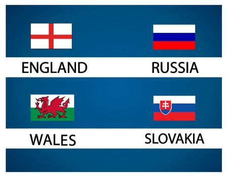 group b: European soccer cup - group B Illustration