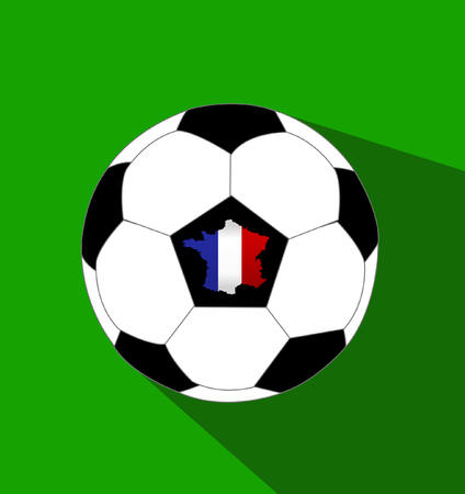 color match: Soccer ball and a France map with France flag