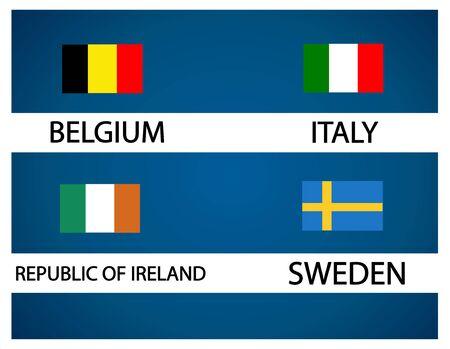 ireland cities: European soccer cup - group E