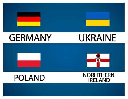 European soccer cup Illustration