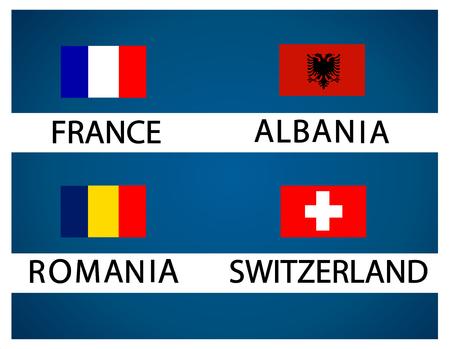 european: European soccer cup - group A Illustration