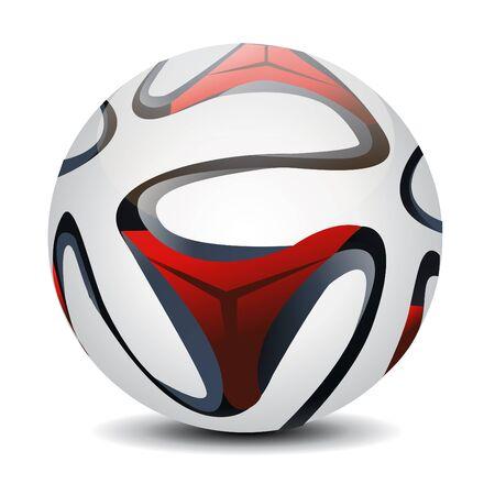 ilustración de balón de fútbol sobre fondo blanco