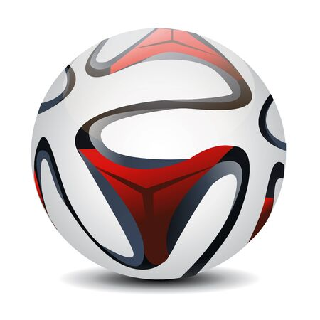 ballon foot: Soccer ball illustration sur fond blanc