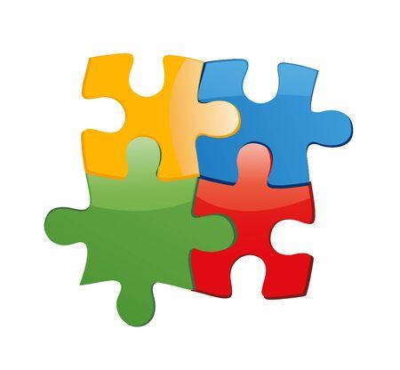 unification: Puzzle illustration art on white background