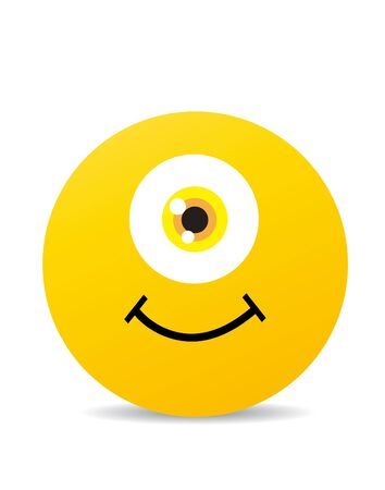 happy smile: Modern yellow laughing happy smile Illustration