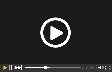 video player: Video Player for web and mobile apps Illustration