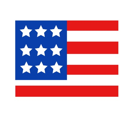 star spangled: USA flag in style vector