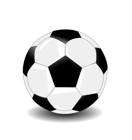 tactics: Soccer ball vector illustration on white background
