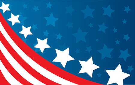 spangled: USA flag in style vector