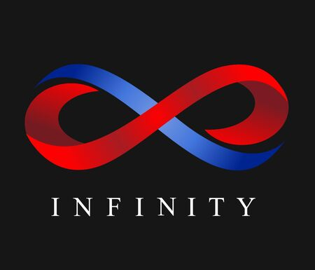 infinity vector illustration on black background