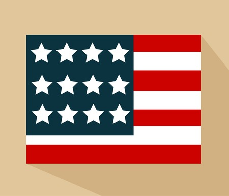 united state: United State Of America flag isolated vector Illustration