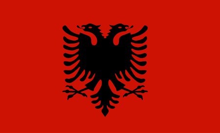 double headed: vector flag of Albania