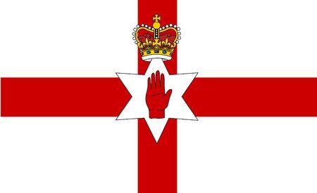 northern ireland: Vector flat style Northern Ireland state flag