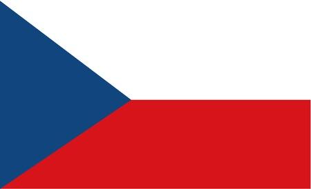czech: Stock Vector Flag of Czech Republic