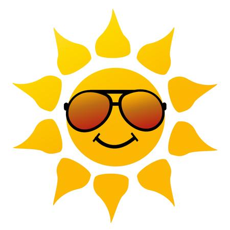 sole: Illustrazione vettoriale del sole su bianco