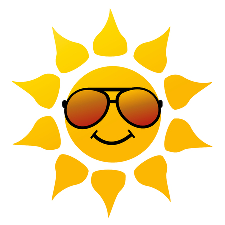 sunshine: vector illustration of the sun on white Illustration