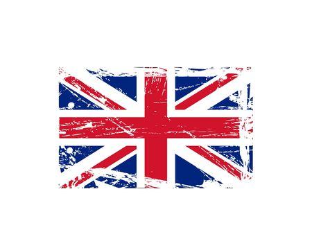 distressed: Grunge British ink splattered flag vectors Illustration
