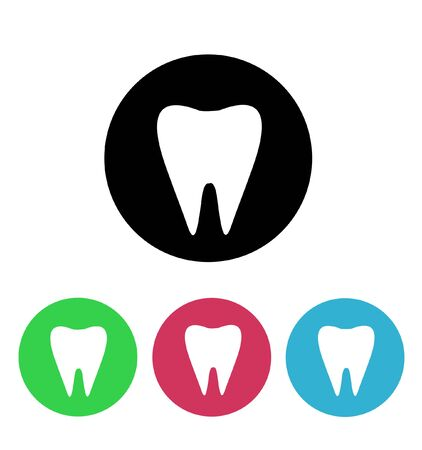 mouth screen: Tooth Vector illustration on white Illustration