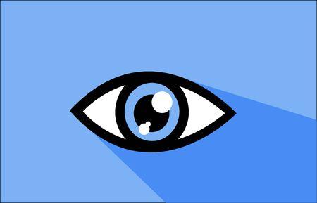 abstract eye: Abstract eye icon vector illustration art Illustration