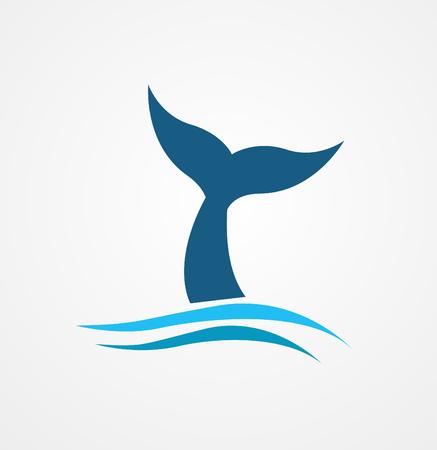 Cola de ballena icono ilustración