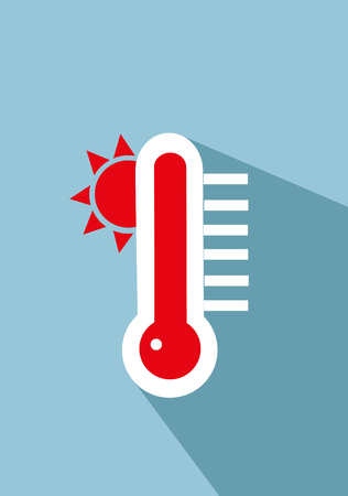 hotness: thermometer icon illustration Illustration