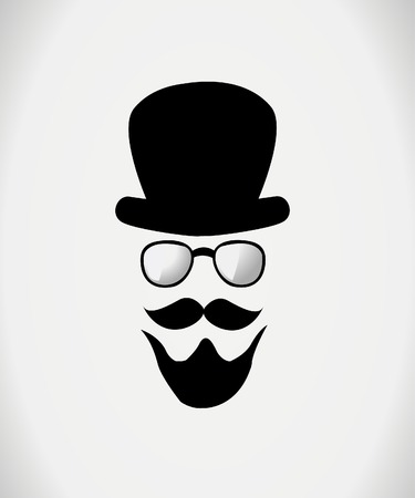 burly: Hat, glasses and mustache
