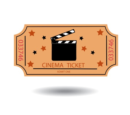 admittance: cinema tickets illustration