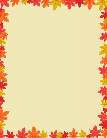 fall leaves: Autumn border design vector illustration Illustration