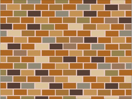 arquitecto: brick wall seamless Vector illustration background Vectores