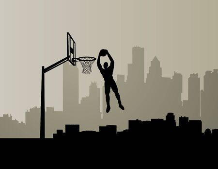 dunking: basketball player