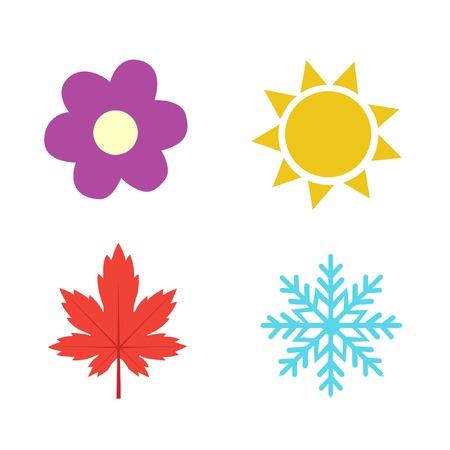 Cuatro estaciones icono de ilustración de los símbolos