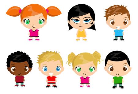 Group of kids illustration