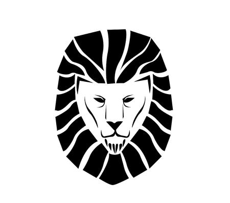domination: Lion face logo
