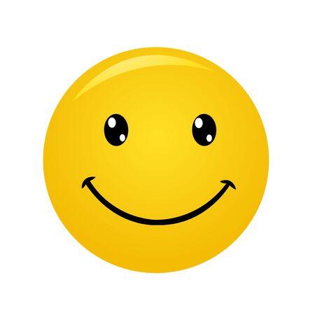 Moderne gele lachen gelukkige glimlach