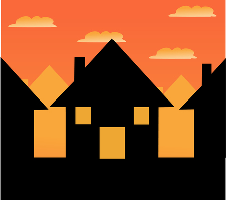 residential houses: House vector icon
