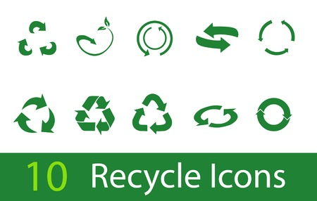 recycling symbols: Vector recycle signs