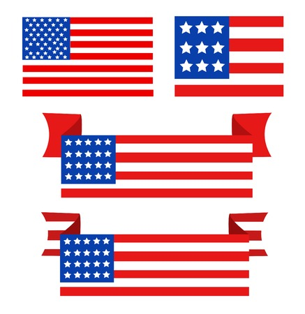 anthem: USA flag in style vector