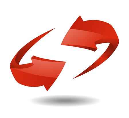 designator: Arrow sign vector illustration on white