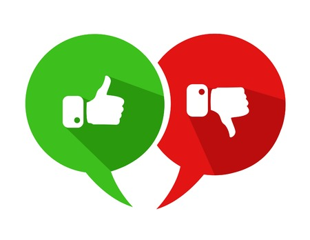 Modern Thumbs Up and Thumbs Down Icons Vettoriali