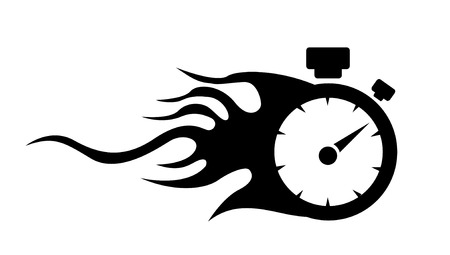 mileage: speedometer. abstract symbol of speed