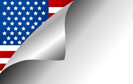 turning page: USA Country Flag Turning Page Illustration
