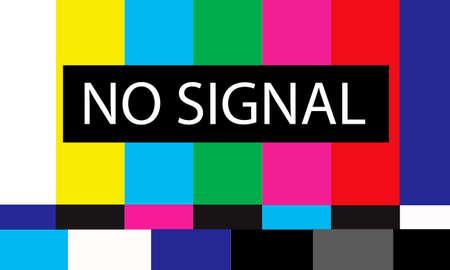 no signal: tv no signal design,vector illustration