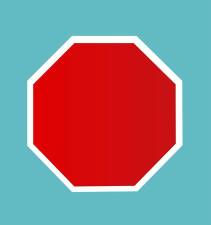 dont walk: Blank Stop Sign