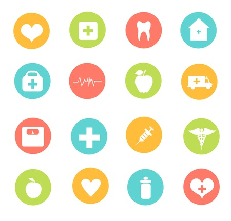 home care: Medical icon set
