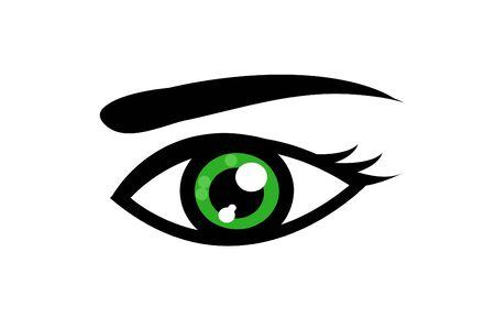 eye icon: Abstract eye icon vector illustration art Illustration