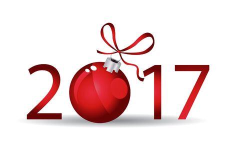 year greetings: Seasons greetings. Happy New 2017 year