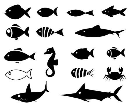 Pictogrammen van vissen
